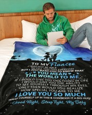 "FE002  Large Fleece Blanket - 60"" x 80"" aos-coral-fleece-blanket-60x80-lifestyle-front-06"