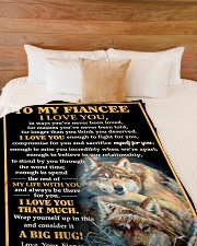 "FE010 Large Fleece Blanket - 60"" x 80"" aos-coral-fleece-blanket-60x80-lifestyle-front-02"