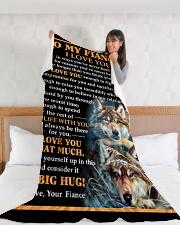 "FE010 Large Fleece Blanket - 60"" x 80"" aos-coral-fleece-blanket-60x80-lifestyle-front-11"