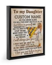 CV - DU0003 - GIFT FOR DAUGHTER FROM MUM Floating Framed Canvas Prints Black tile