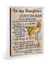 CV - DU0003 - GIFT FOR DAUGHTER FROM MUM Floating Framed Canvas Prints White tile