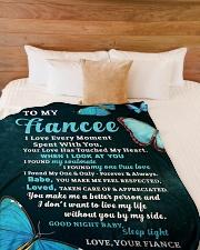 "FE018 Large Fleece Blanket - 60"" x 80"" aos-coral-fleece-blanket-60x80-lifestyle-front-02"