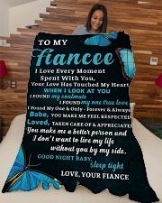 "FE018 Large Fleece Blanket - 60"" x 80"" aos-coral-fleece-blanket-60x80-lifestyle-front-04"