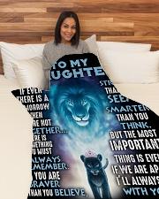"DD012 Large Fleece Blanket - 60"" x 80"" aos-coral-fleece-blanket-60x80-lifestyle-front-05"