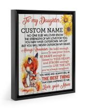 CV - DU0005 - GIFT FOR DAUGHTER FROM MUM Floating Framed Canvas Prints Black tile