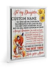 CV - DU0005 - GIFT FOR DAUGHTER FROM MUM Floating Framed Canvas Prints White tile