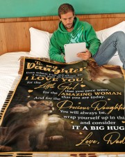 "DD020  Large Fleece Blanket - 60"" x 80"" aos-coral-fleece-blanket-60x80-lifestyle-front-06"