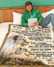 "SD001  Large Fleece Blanket - 60"" x 80"" aos-coral-fleece-blanket-60x80-lifestyle-front-06"