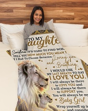 "DU004 Large Fleece Blanket - 60"" x 80"" aos-coral-fleece-blanket-60x80-lifestyle-front-05"