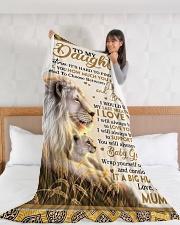 "DU004 Large Fleece Blanket - 60"" x 80"" aos-coral-fleece-blanket-60x80-lifestyle-front-11"