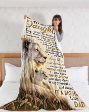"DD023  Large Fleece Blanket - 60"" x 80"" aos-coral-fleece-blanket-60x80-lifestyle-front-11"
