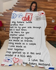 "FE003  Large Fleece Blanket - 60"" x 80"" aos-coral-fleece-blanket-60x80-lifestyle-front-04"