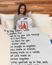 "FE003  Large Fleece Blanket - 60"" x 80"" aos-coral-fleece-blanket-60x80-lifestyle-front-05"