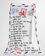 "FE003  Large Fleece Blanket - 60"" x 80"" aos-coral-fleece-blanket-60x80-lifestyle-front-10"