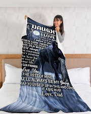"DD016  Large Fleece Blanket - 60"" x 80"" aos-coral-fleece-blanket-60x80-lifestyle-front-11"