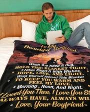 "GF007 Large Fleece Blanket - 60"" x 80"" aos-coral-fleece-blanket-60x80-lifestyle-front-06"