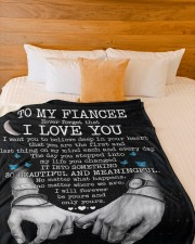 """BLANKET - FE0002 - GIFT FOR FIANCEE Large Fleece Blanket - 60"""" x 80"""" aos-coral-fleece-blanket-60x80-lifestyle-front-02a"""