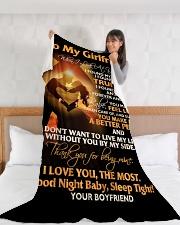 "GF022 Large Fleece Blanket - 60"" x 80"" aos-coral-fleece-blanket-60x80-lifestyle-front-11"