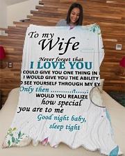 "GIFT FOR WIFE  Large Fleece Blanket - 60"" x 80"" aos-coral-fleece-blanket-60x80-lifestyle-front-04"