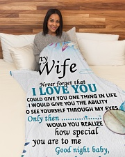 "GIFT FOR WIFE  Large Fleece Blanket - 60"" x 80"" aos-coral-fleece-blanket-60x80-lifestyle-front-05"