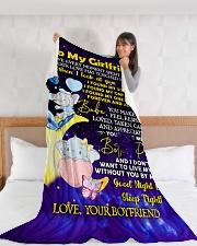 "GF020 Large Fleece Blanket - 60"" x 80"" aos-coral-fleece-blanket-60x80-lifestyle-front-11"