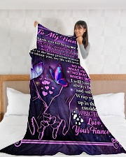 "FE020 Large Fleece Blanket - 60"" x 80"" aos-coral-fleece-blanket-60x80-lifestyle-front-11"