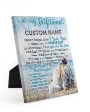 CV - GF0003 - GIFT FOR GIRLFRIEND 8x10 Easel-Back Gallery Wrapped Canvas front