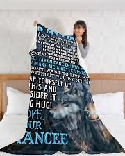 "FA001 Large Fleece Blanket - 60"" x 80"" aos-coral-fleece-blanket-60x80-lifestyle-front-11"