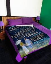 "GF015 Large Fleece Blanket - 60"" x 80"" aos-coral-fleece-blanket-60x80-lifestyle-front-01"