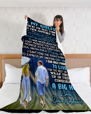 "GF015 Large Fleece Blanket - 60"" x 80"" aos-coral-fleece-blanket-60x80-lifestyle-front-11"
