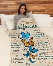 "GF010 Large Fleece Blanket - 60"" x 80"" aos-coral-fleece-blanket-60x80-lifestyle-front-05"