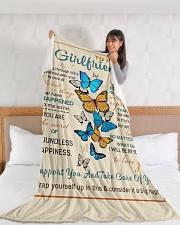 "GF010 Large Fleece Blanket - 60"" x 80"" aos-coral-fleece-blanket-60x80-lifestyle-front-11"