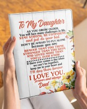 NOTEBOOK - DD0002 - GIFT FOR DAUGHTER FROM DAD Large - Leather Notebook aos-large-leather-notebook-lifestyle-front-04