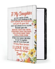 NOTEBOOK - DD0002 - GIFT FOR DAUGHTER FROM DAD Large - Leather Notebook front