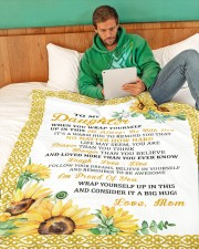 "DM010 Large Fleece Blanket - 60"" x 80"" aos-coral-fleece-blanket-60x80-lifestyle-front-06"