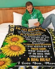 "DM001  Large Fleece Blanket - 60"" x 80"" aos-coral-fleece-blanket-60x80-lifestyle-front-06"
