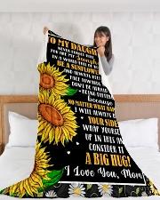 "DM001  Large Fleece Blanket - 60"" x 80"" aos-coral-fleece-blanket-60x80-lifestyle-front-11"