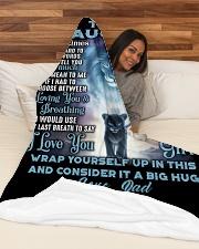 "DD001 Large Fleece Blanket - 60"" x 80"" aos-coral-fleece-blanket-60x80-lifestyle-front-03"
