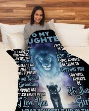 "DD001 Large Fleece Blanket - 60"" x 80"" aos-coral-fleece-blanket-60x80-lifestyle-front-05"