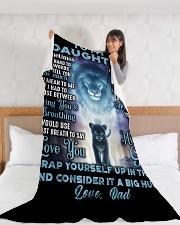 "DD001 Large Fleece Blanket - 60"" x 80"" aos-coral-fleece-blanket-60x80-lifestyle-front-11"