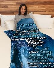 "GF019 Large Fleece Blanket - 60"" x 80"" aos-coral-fleece-blanket-60x80-lifestyle-front-05"
