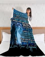"GF019 Large Fleece Blanket - 60"" x 80"" aos-coral-fleece-blanket-60x80-lifestyle-front-11"