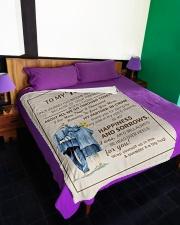 "FE009 Large Fleece Blanket - 60"" x 80"" aos-coral-fleece-blanket-60x80-lifestyle-front-01"