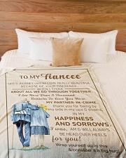 "FE009 Large Fleece Blanket - 60"" x 80"" aos-coral-fleece-blanket-60x80-lifestyle-front-02"