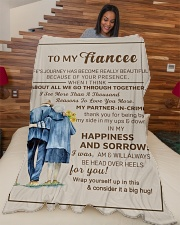 "FE009 Large Fleece Blanket - 60"" x 80"" aos-coral-fleece-blanket-60x80-lifestyle-front-04"