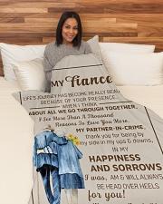 "FE009 Large Fleece Blanket - 60"" x 80"" aos-coral-fleece-blanket-60x80-lifestyle-front-05"