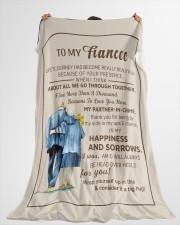 "FE009 Large Fleece Blanket - 60"" x 80"" aos-coral-fleece-blanket-60x80-lifestyle-front-10"