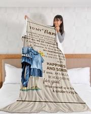 "FE009 Large Fleece Blanket - 60"" x 80"" aos-coral-fleece-blanket-60x80-lifestyle-front-11"