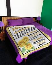 "DU011 Large Fleece Blanket - 60"" x 80"" aos-coral-fleece-blanket-60x80-lifestyle-front-01"