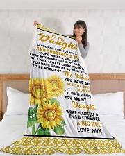 "DU011 Large Fleece Blanket - 60"" x 80"" aos-coral-fleece-blanket-60x80-lifestyle-front-11"